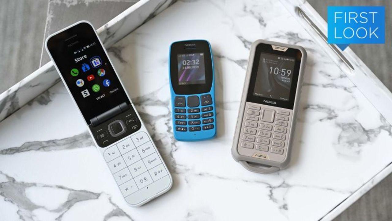 2019年ですが、Nokiaからフィーチャーフォン3兄弟登場です