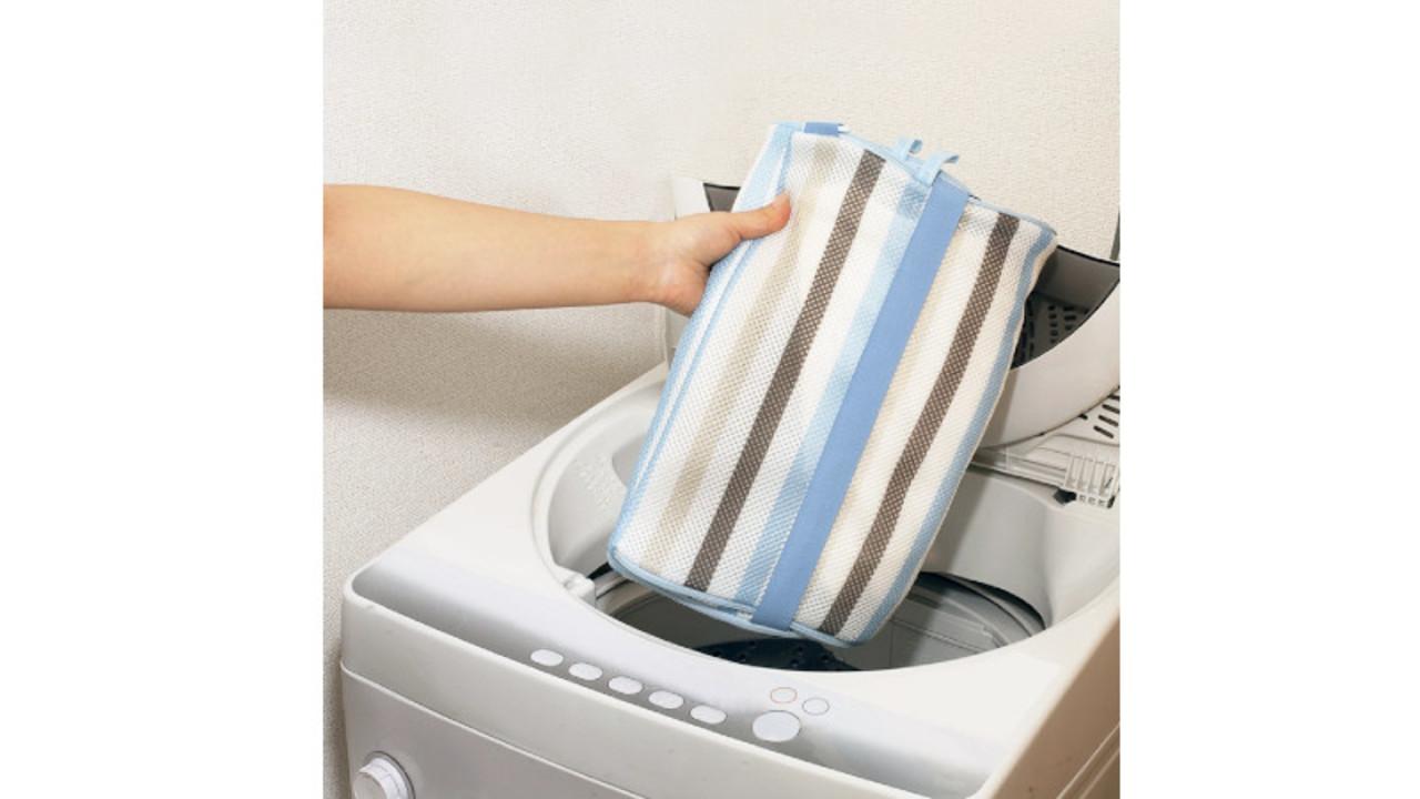 ランドリーグッズは、これ1つで済むかも⁉︎ 洗濯ネット、洗濯カゴ、目隠しの3役