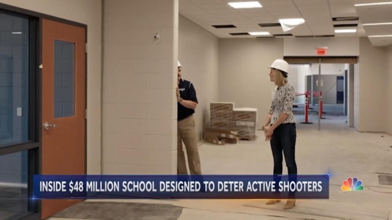 銃乱射事件が後を絶たないアメリカ。被害を最小限に抑える学校を建設中