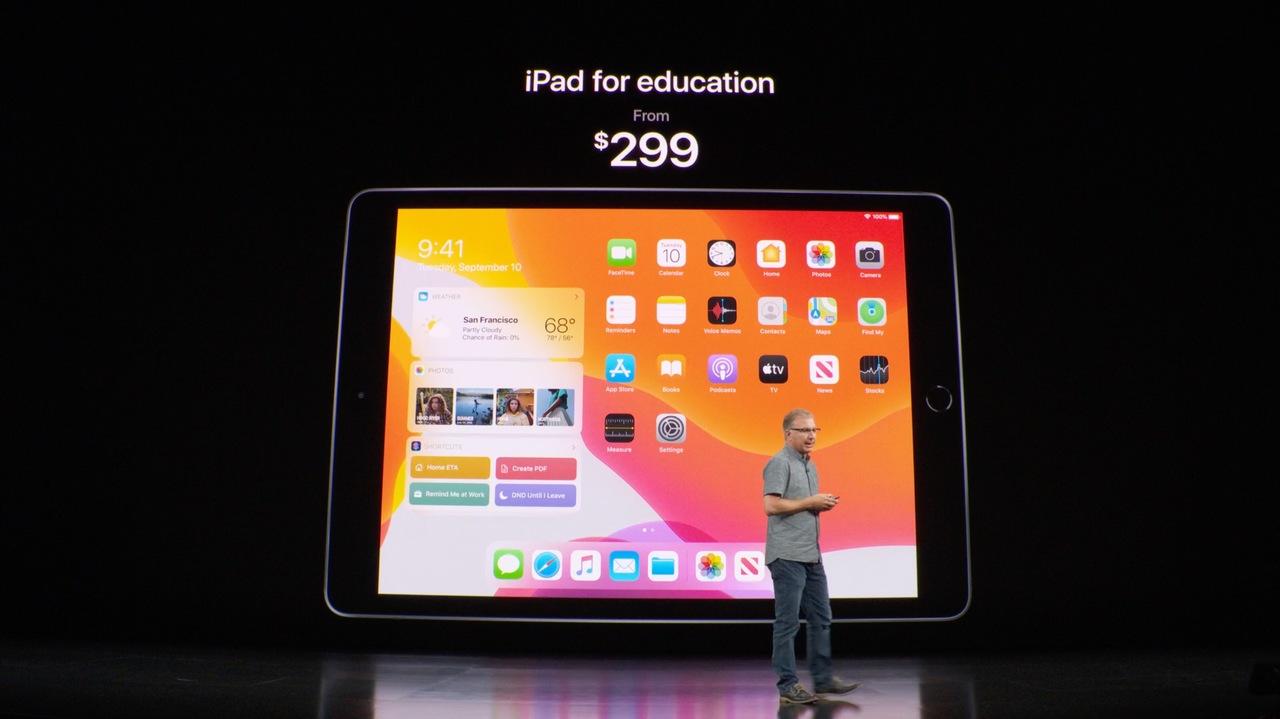 エントリーレベルのiPad、お値段がなんと329ドル! #AppleEvent