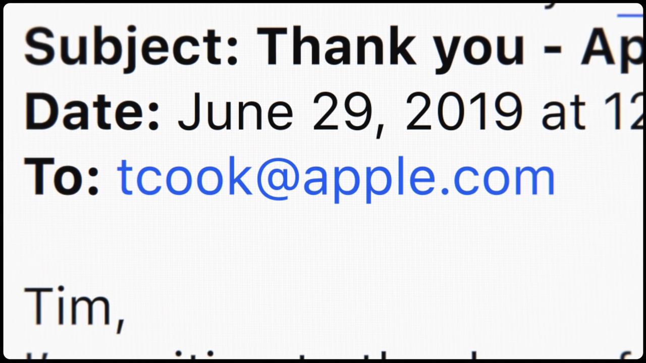 まさかのティムクックのメールアドレス流出 #AppleEvent