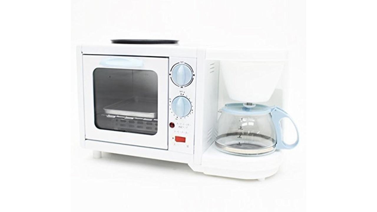 1台でトースト、目玉焼き、コーヒーが全部できちゃうマシーン