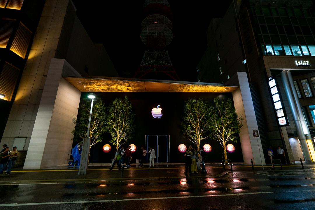 Apple 福岡オープン前夜、Apple 福岡天神ラストナイト