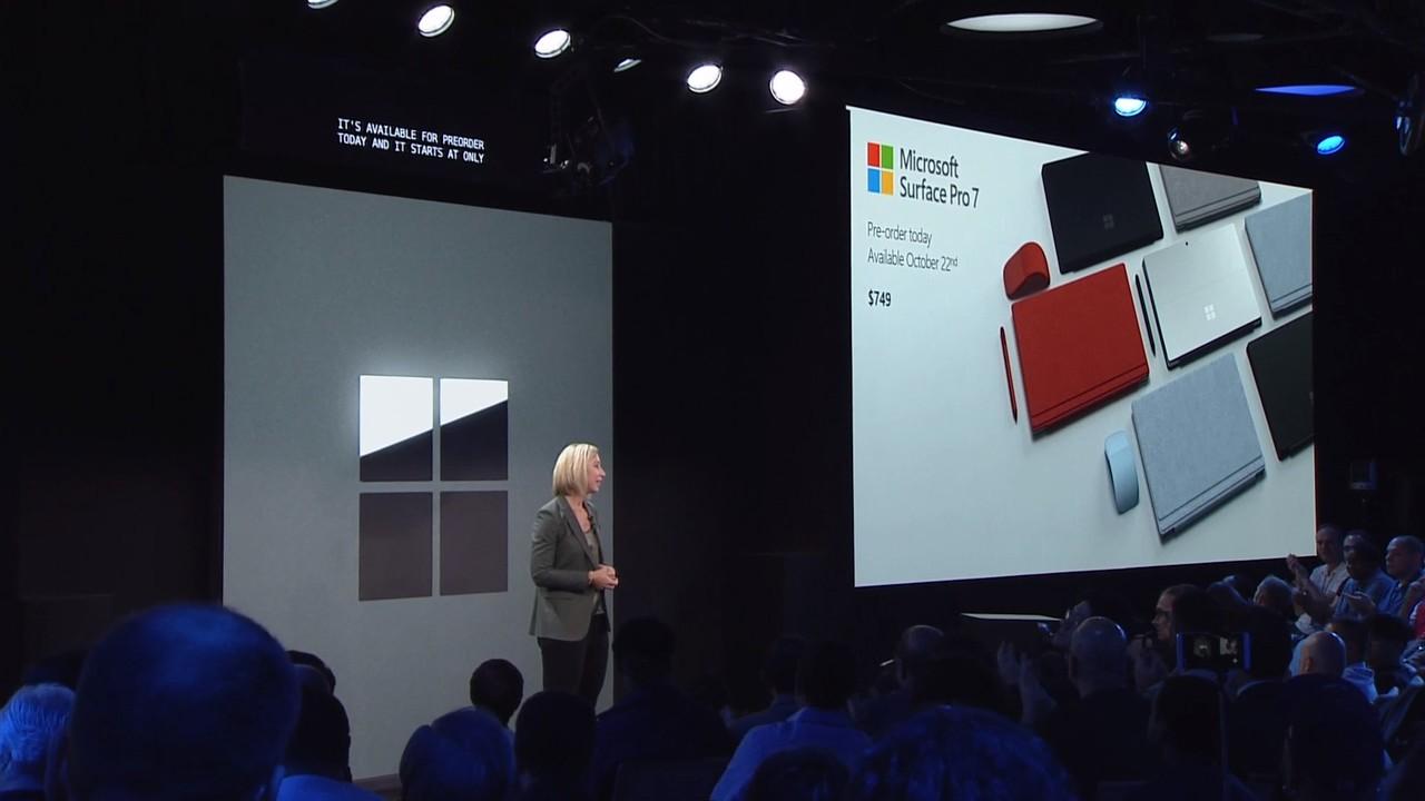 USB-C搭載だあああああ。新型2-in-1 PC「Surface Pro 7」発表! #MicrosoftEvent