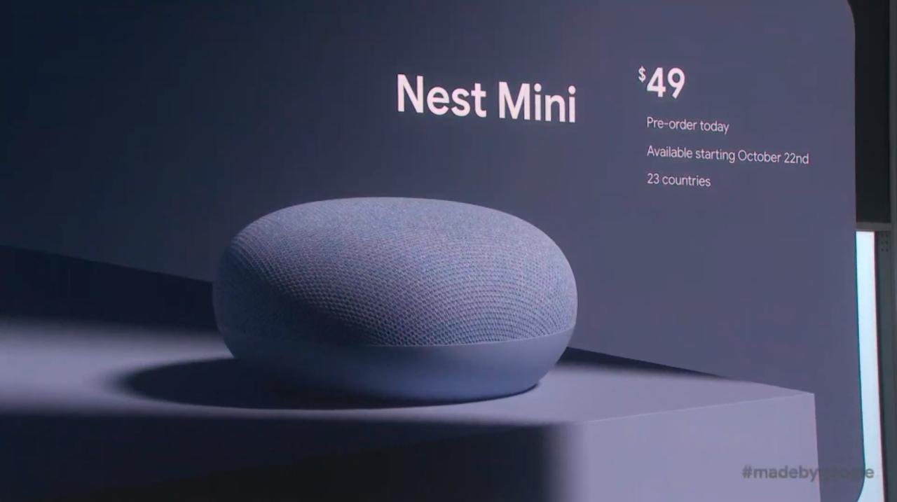 Google Home Miniは「Nest Mini」へ。壁掛けが可能! #madebygoogle
