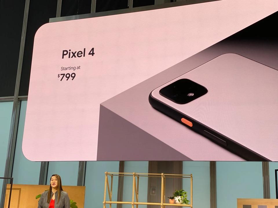 Pixel 4は799ドル(約8万7000円)から発売!