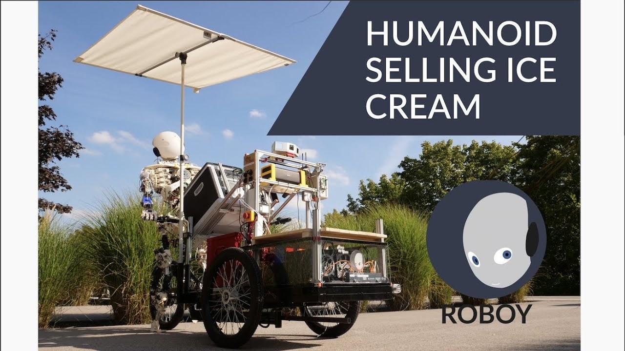 """ヒューマノイド・アイスクリーム屋さん「ROBOY」は世界初の「自律型""""自立""""ロボット」"""