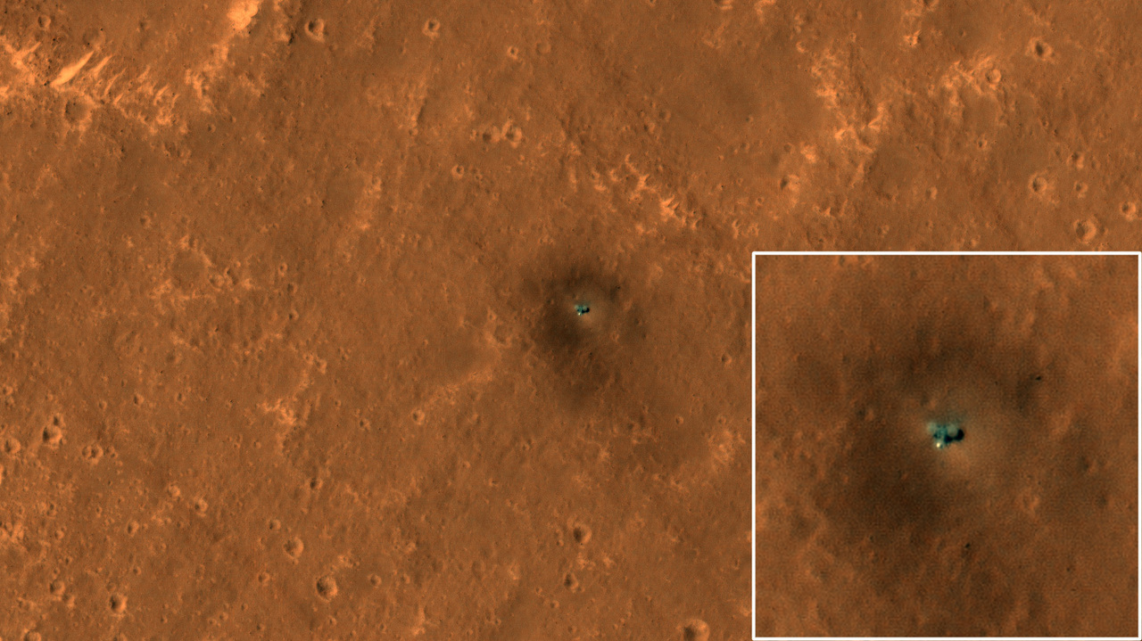 火星探査機キュリオシティとインサイト、軌道上から撮影される