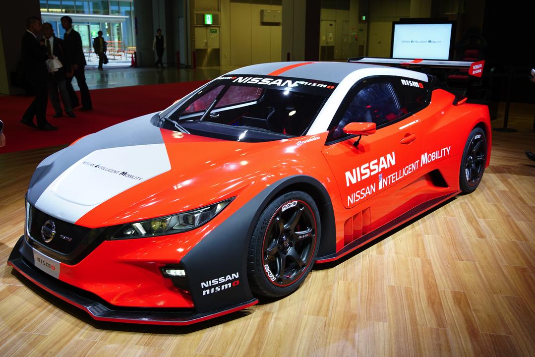 『リッジレーサー』感ある箱車EVレーシングカー日産「LEAF NISMO RC」 #東京モーターショー2019