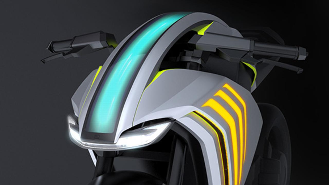 スマートなバイクってこんな感じ。道路に情報を投影するプロジェクター #東京モーターショー2019