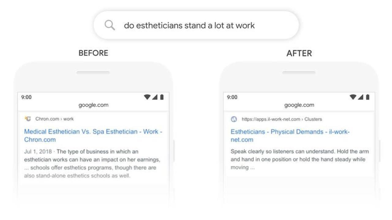 Google検索がBERTで進化し、質問の理解力が向上しました
