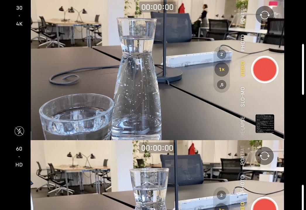 iPhoneの動画撮影設定、iOS 13.2ではカメラアプリで変更できます