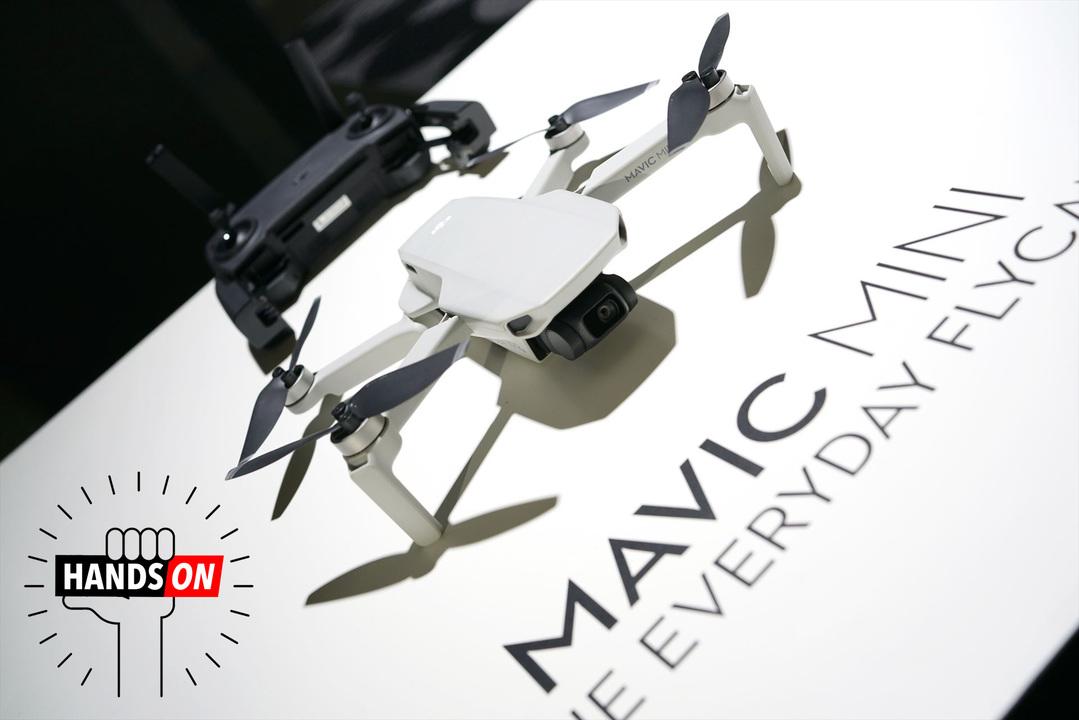 DJIの軽量ドローン「Mavic Mini」ハンズオン:199gだから、パッと飛ばせる