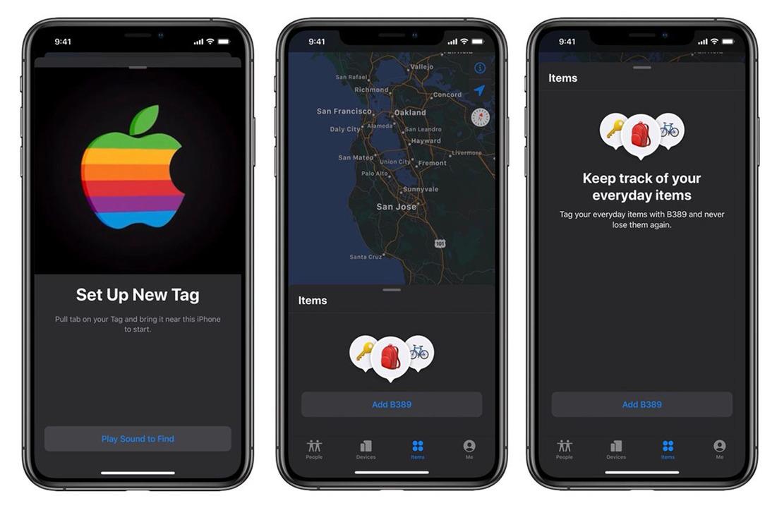 Apple紛失防止タグらしき、新しいUI画面がみつかったよ
