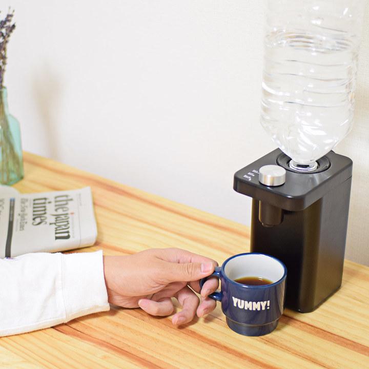 ペットボトルの水が2秒でお湯になる。コーヒーやスープのお供に最高そうなミニサーバー
