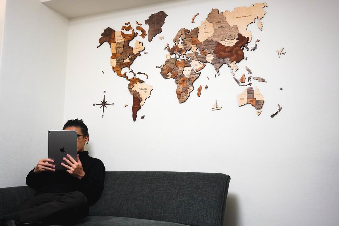 木製ウォールアート「3D世界地図」を作ってみたら世界が身近になったかも