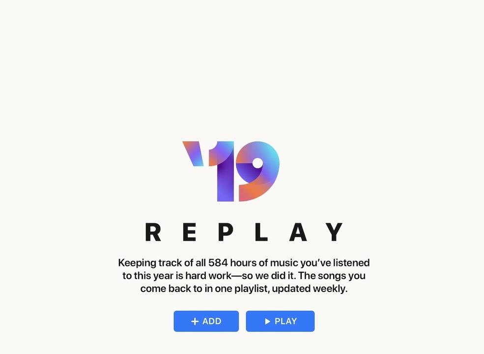Apple MusicのReplayで、「マイベストアルバム2019」を楽しもう