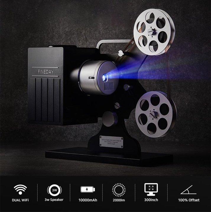 タッチパッドとWi-Fi搭載でネットサーフィンも! 8mm映写機ソックリなデジタル・プロジェクター
