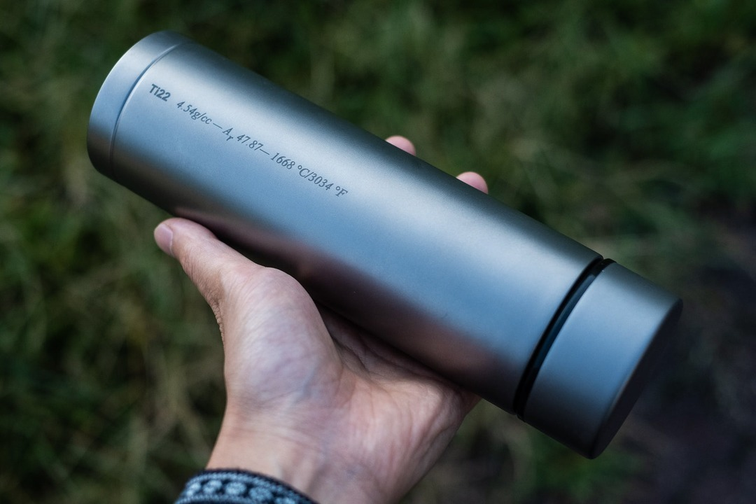 ボトル界の最高峰かも。純チタン製の高級サーモボトル「Therma 3.0」のキャンペーンが終了間近