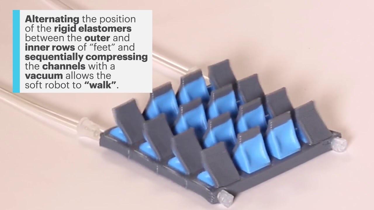 ひとつのノズルで8種の素材を切り替える3Dプリンタ、ソフト・ロボットも生成できる