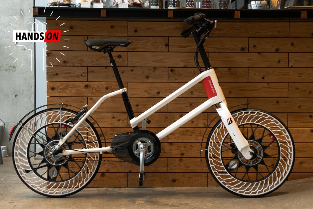 ブリヂストンの「パンクしない自転車」ハンズオン:いずれ街でお馴染みの存在になりそう