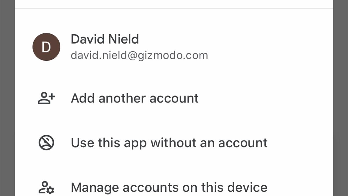 Chrome アカウント 切り替え google
