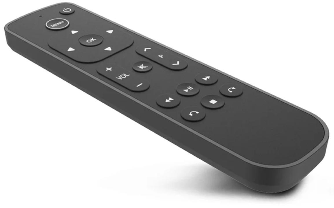 実家のおじいちゃんでも使えそうなApple TVのリモコン(Appleと共同開発)