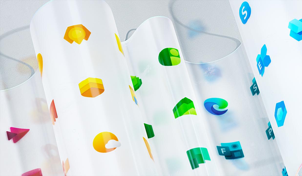MicrosoftがWindowsなどの新ロゴデザインを公開してるよ