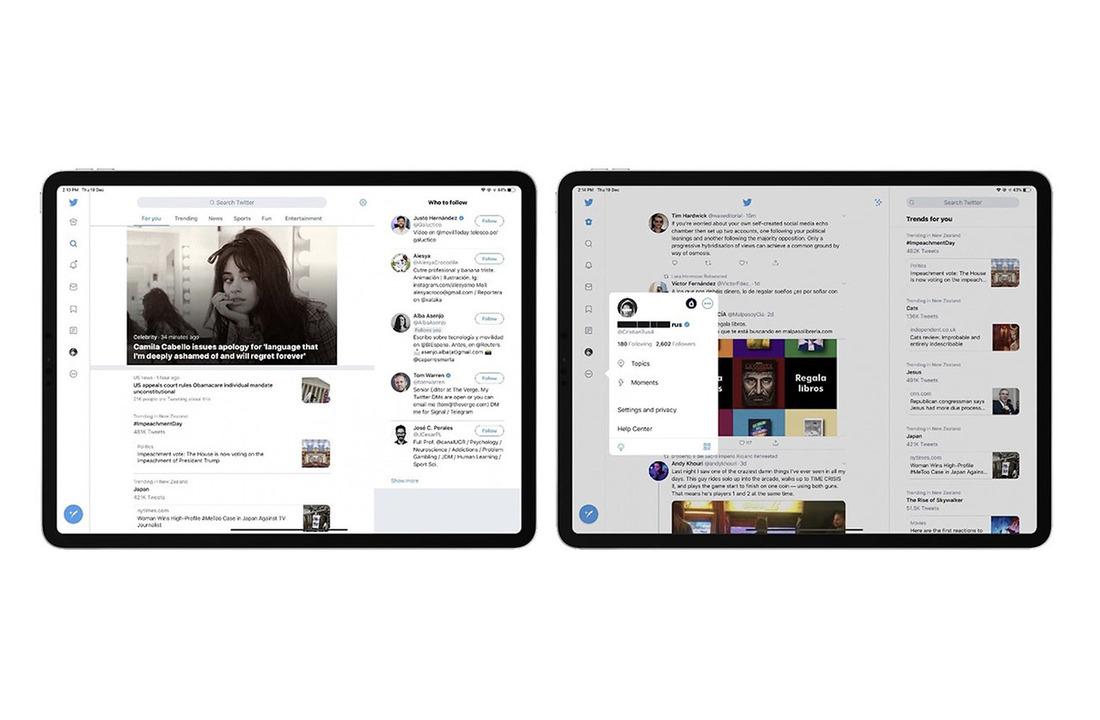 Twitterの新iPad向けインターフェイス、マルチカラムで使いやすそう
