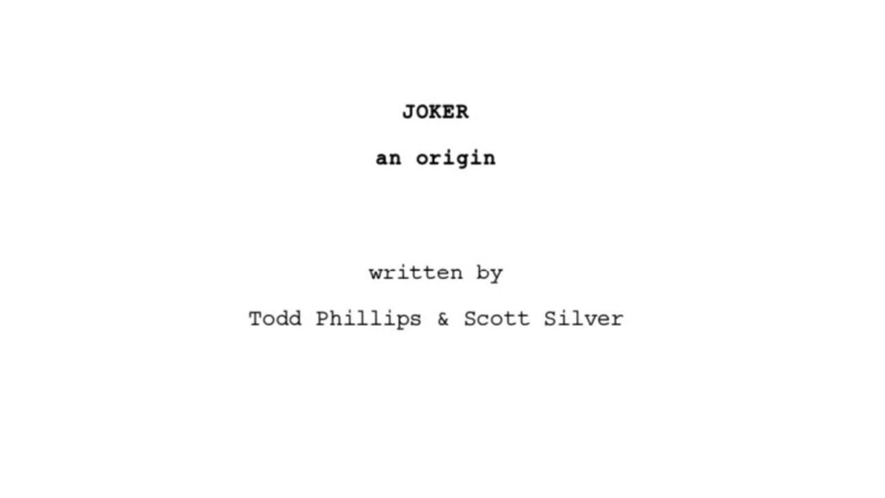 映画『ジョーカー』の脚本がオンラインで見られます