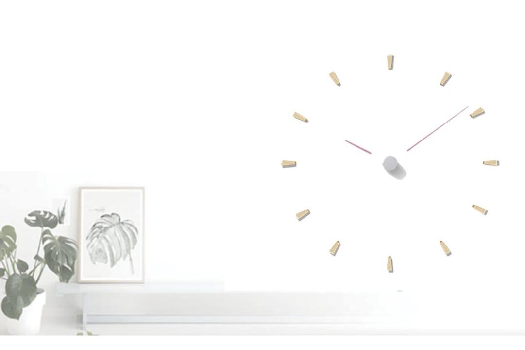シンプルなのに斬新!暗い部屋でも見やすい壁掛け型の「レーザー時計」が登場