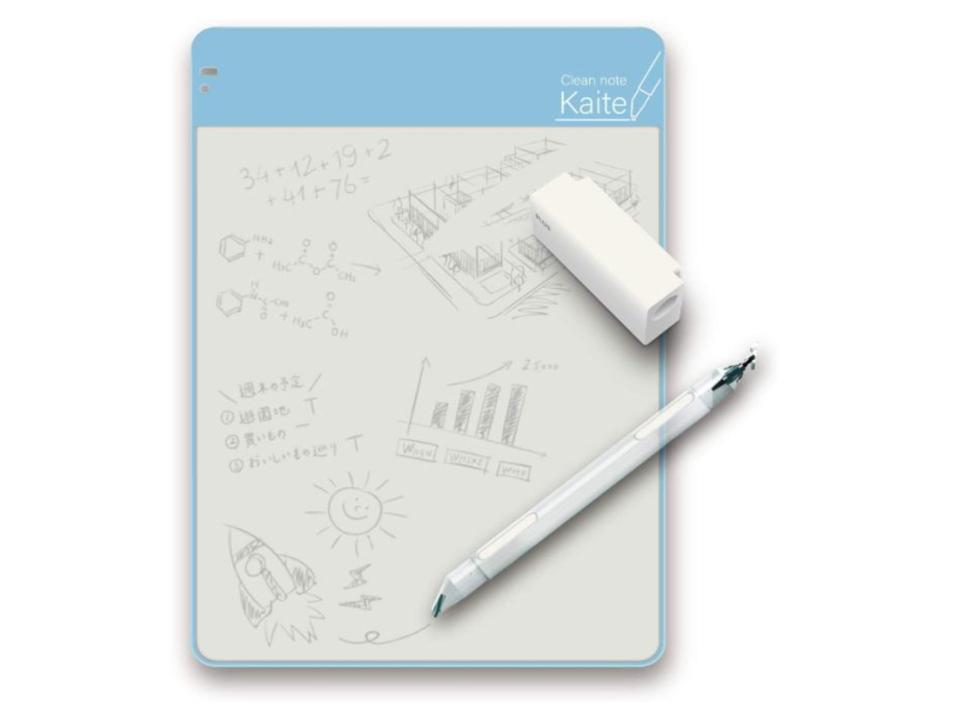 紙のような書き心地にこだわった、繰り返し書けるメモ帳。電池も充電も不要!