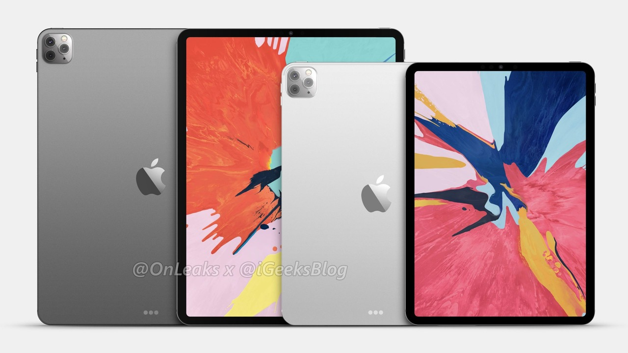 3カメラになった次期iPad Proの予測レンダリング画像が登場。12.9インチはバックパネルがガラス製になるってウワサも