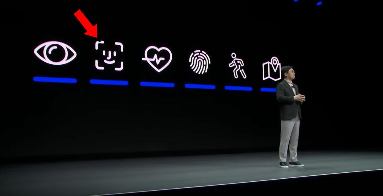 Samsung痛恨の(たぶん)ミス。AppleのFace IDロゴを(たぶん)間違えて使ってしまう #CES2020