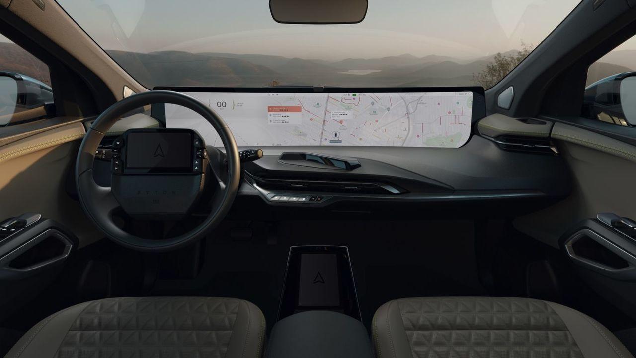 中国EVメーカーByton、ダッシュボードに横幅1.2mのスクリーンを持つEV「M-Byte」を発表 #CES2020