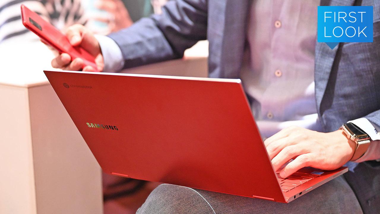 赤いってだけでなんかイイ… Samsungから真っ赤なGalaxy Chromebook登場 #CES2020