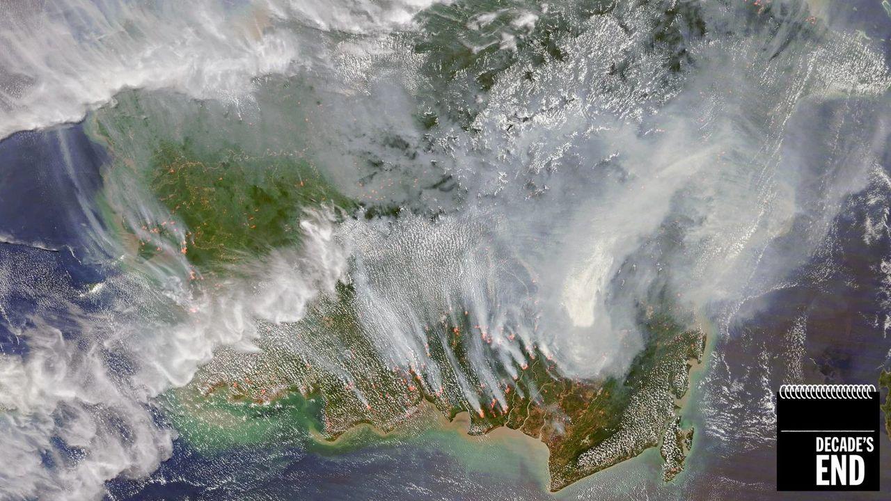 衛星写真でみる、2010年代の気候変動