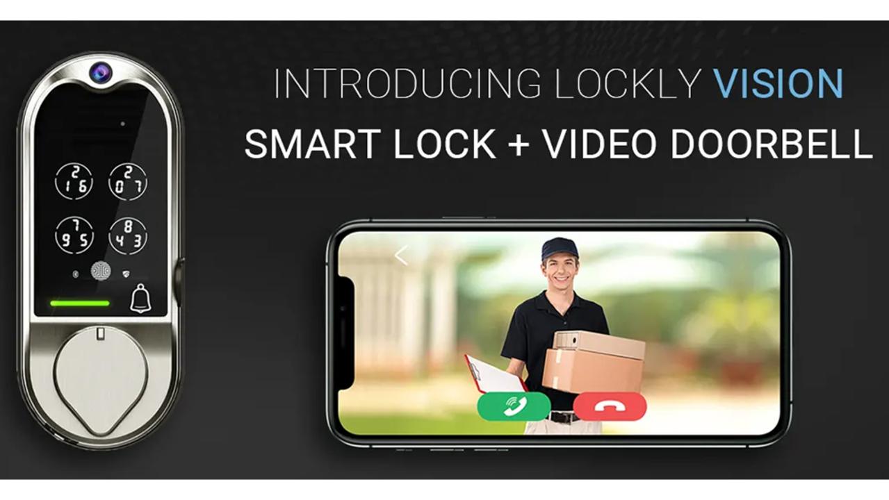 スマートロックにインターホンが合体。全部入りのスマートロック「Lockly Vision」 #CES2020