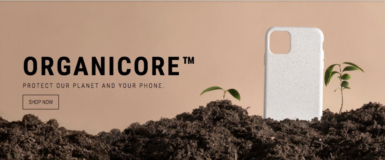 100%コンポスト可能な素材で作る、グリーンなスマートホンケースOrganicore
