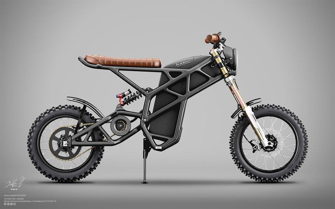 カーボンファイバーフレームで75kgの軽さ。東京タワーみたいなスッカスカEVバイク