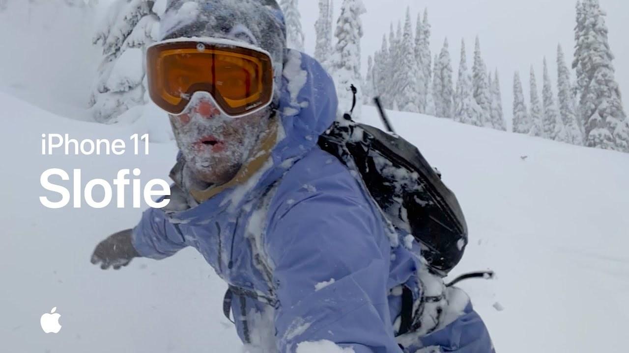 iPhone 11スローフィーのかっこいい使い方、Appleが教えてくれました。まずは雪山行っとく?