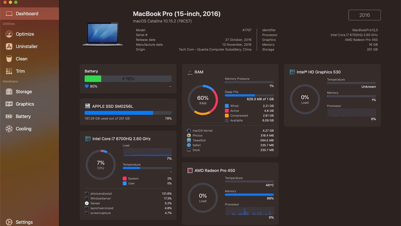 Macのハードウェア管理&最適化なら「Sensei」にお任せ! 必須じゃないけど、あるといい