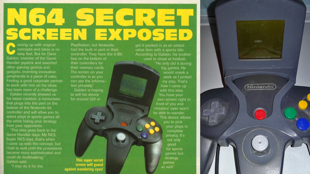 ドリキャスのネタ元? 幻となったN64コントローラー用セカンド・スクリーン周辺機器