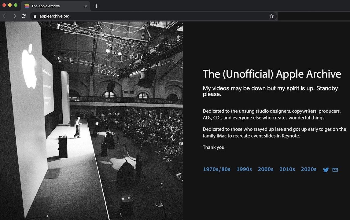 Apple歴史を網羅した非公式なアーカイブ、Appleにガチギレされる