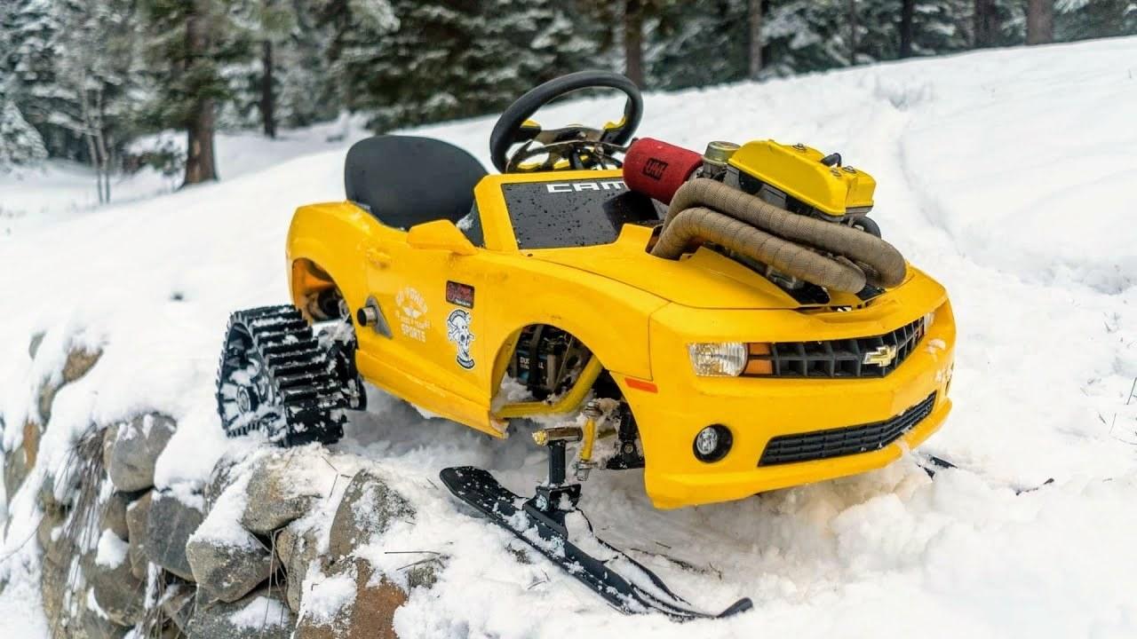 おもちゃの車の魔改造がどんどんエスカレートしてる。雪山仕様の ...