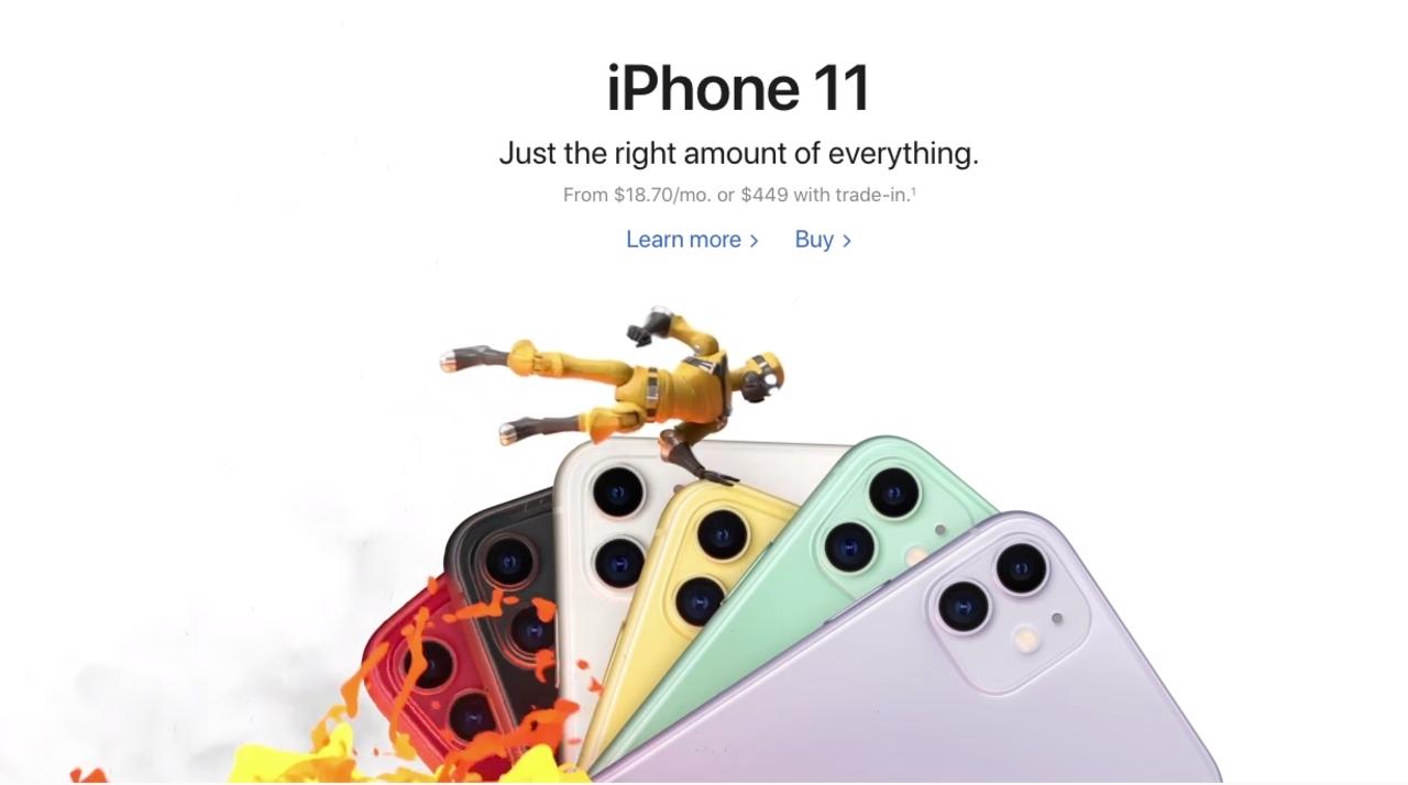 あれ?幻覚かな…? Apple.comのサイトでソニックが走る