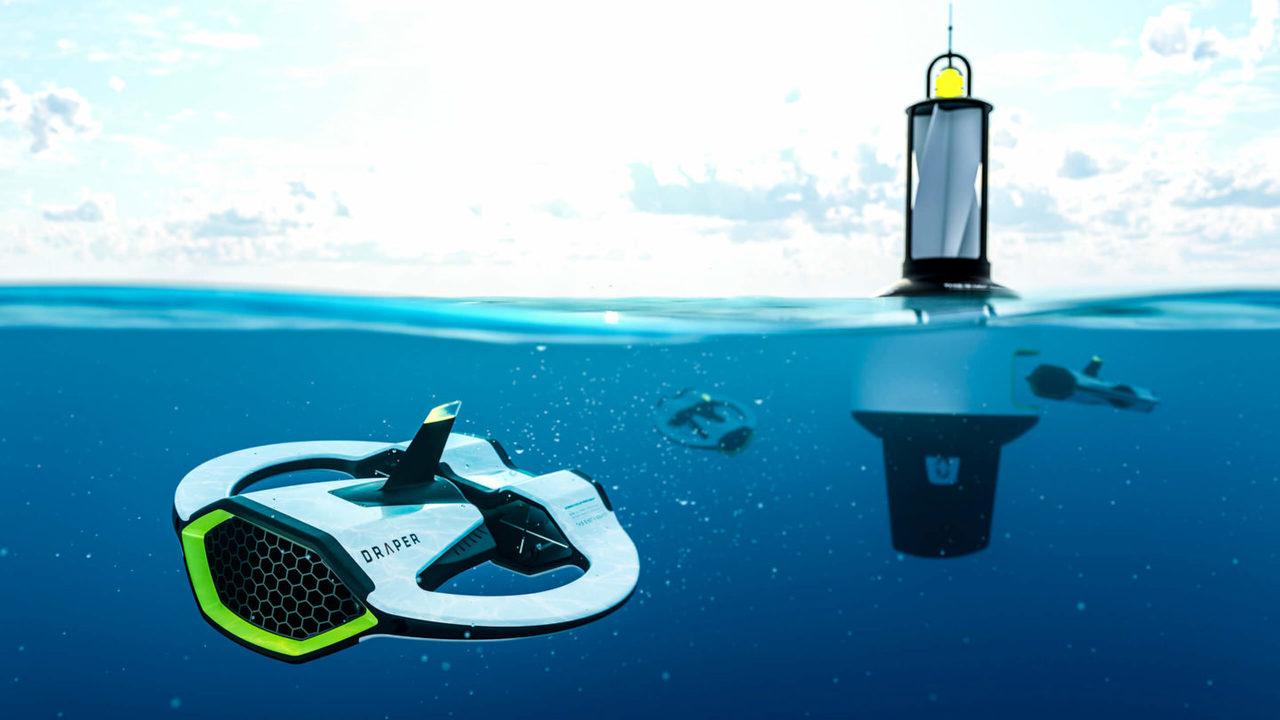 海中のマイクロプラスチックを回収&出処を地図化する水中ドローン。