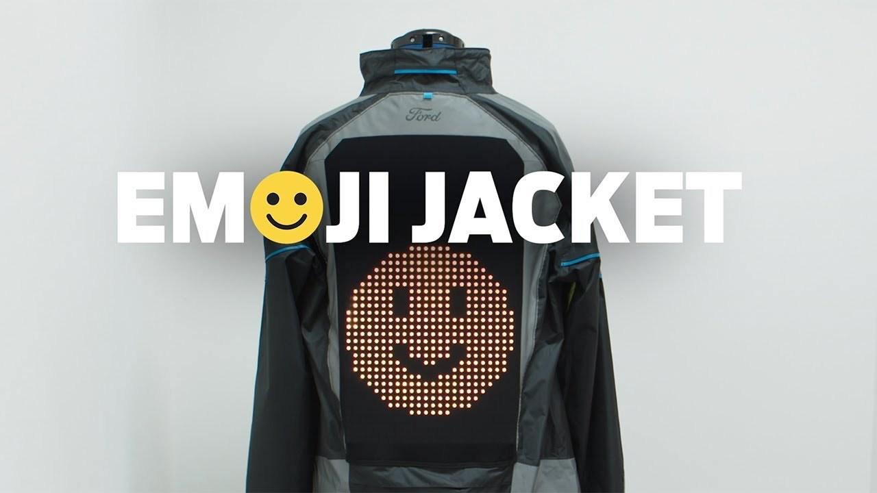 フォード、自転車乗りのために電光絵文字ジャケットを作る