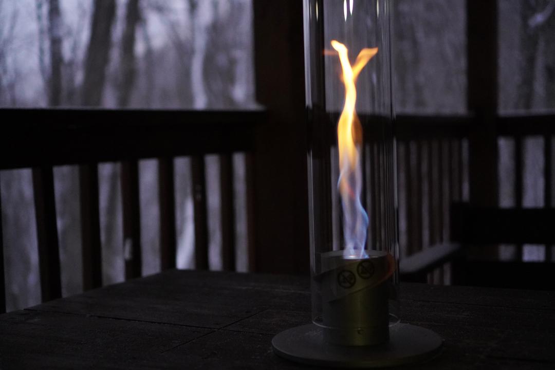 いでよ、螺旋の炎! 焚き火とは一味違う、アートな炎を楽しめるドイツ発のランタン「SPIN」を使ってみた