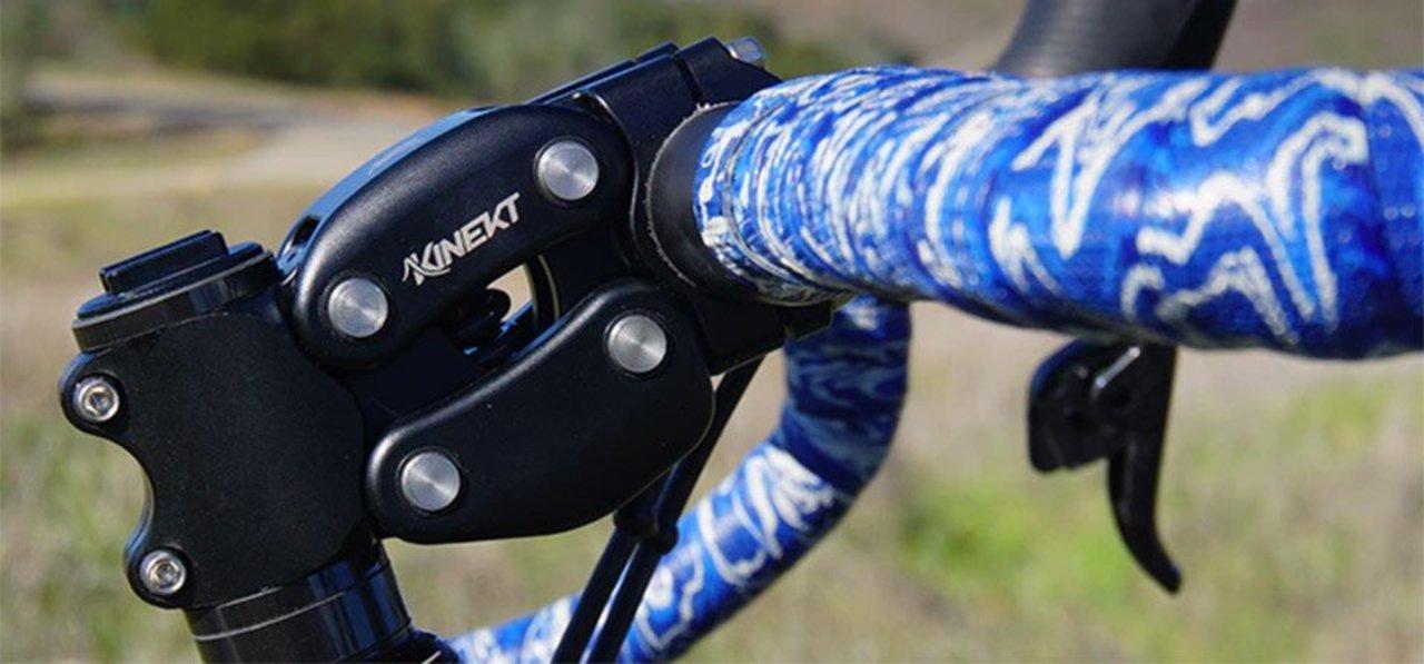 手許で衝撃を吸収するバネ仕掛けの自転車用ステム「Kinekt」